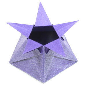 Five Pointed Cute Origami Star Box