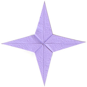 CB four-pointed seashell origami paper star