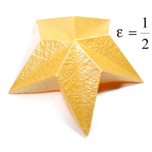 five-pointed easy embossed origami paper star