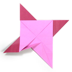 how to make a origami ninja star step by step