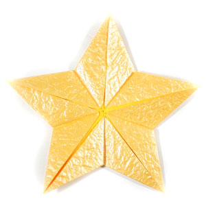 five-pointed seashell origami star back