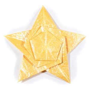 five-pointed seashell origami star front