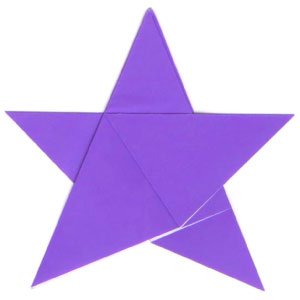 traditional five-pointed origami paper star