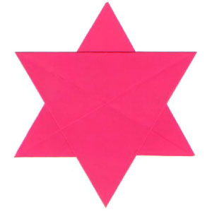 traditional six-pointed origami paper star