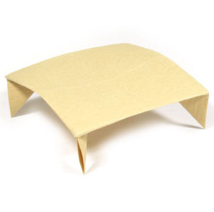 square coffee origami table