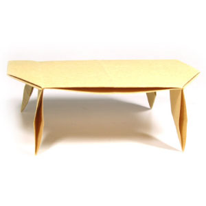 large origami dining table