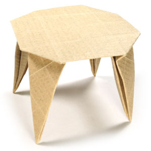 round origami dining table