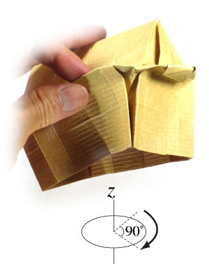 how to make a origami temple