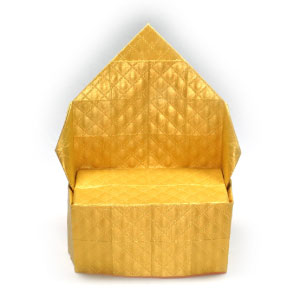wide origami throne