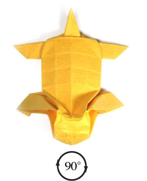how to make a origami tiger step by step