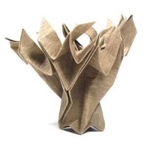 an origami old tree