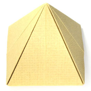 how to make origami pyramid