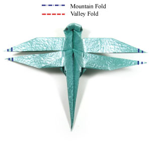 Origami Dragonfly · How To Fold An Origami Animal · Origami on Cut ... | 300x300