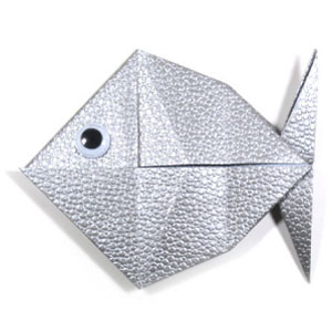 Origami fish base instructions embroidery origami for Origami fish instructions