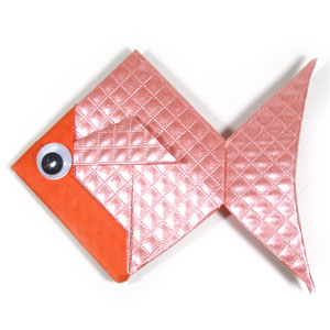 traditional origami goldfish