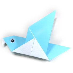 traditional origami pigeon