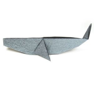 traditional origami whale